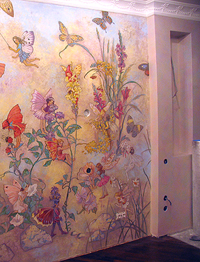 Роспись стен в интерьере своими руками