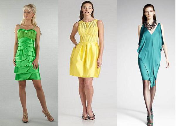 Модели коктейльных платьев 2012 в