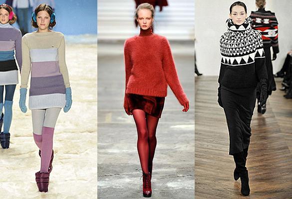 Трикотажные свитера мода 2012