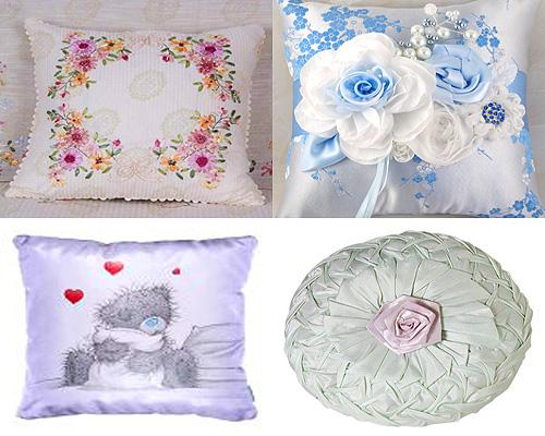 Декоративные подушки кружево