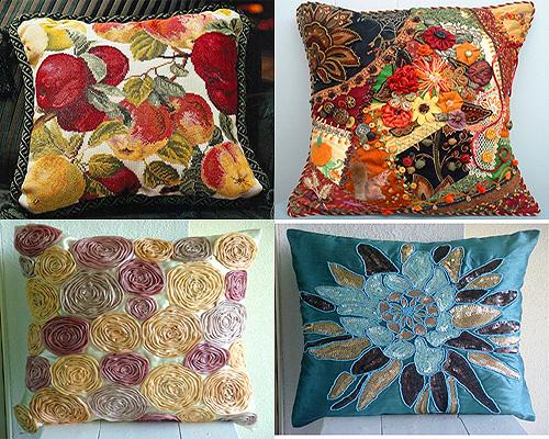 Декоративные красивые подушки своими руками