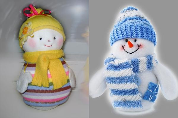 Сшить снеговики своими руками на новый год