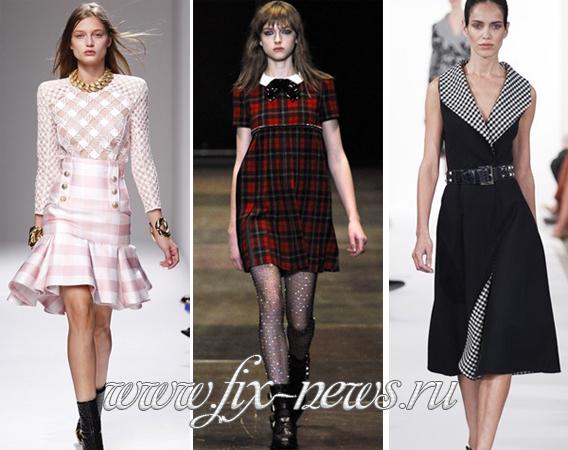 Осень мода 2014 платья